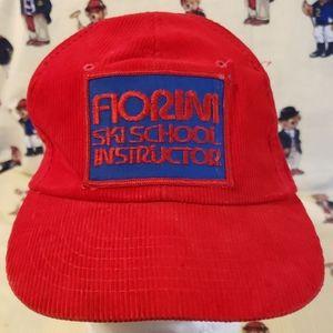 vintage ski school instructor corduro hat